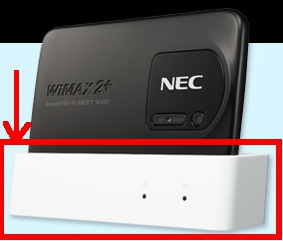 WiMAXルーターのクレードル
